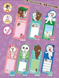 Line Friends Brown Cony Taiwan 7-11 Limited Sticky+Bookmark+Ruler In One Set Of 7 - Lavits Figure  - 2