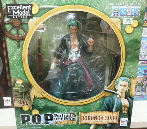 Megahouse 1/8 One Piece POP Rorona Zoro Sailing Again Ver. Pvc Figure - Lavits Figure  - 5