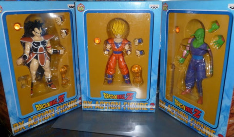Banpresto Dragon Ball Z DBZ DX Action Part 2 Son Gokou Goku Piccolo Raditz 3 Figure Set - Lavits Figure