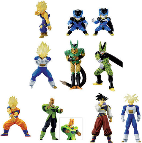 Bandai Dragon Ball Z Super Modeling Soul Of Hyper Figuration Part 6 9 Color 9 Monochrome 18 Trading Figure Set - Lavits Figure