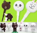 App Line Friends Character Brown Cony Moon Big Head 6 Figure Pen Set - Lavits Figure  - 2