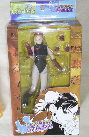 "Moby Dick Capcom Queens Street Fighter Cammy Black Ver. 7"" Action Figure Set - Lavits Figure"