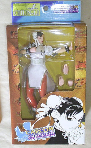 "Moby Dick Capcom Queens Street Fighter Chun Li White Ver. 7"" Action Figure Set - Lavits Figure"