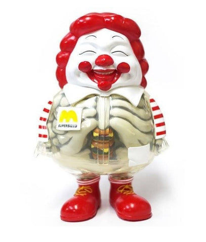 "Secret Base 2011 Ron English X-Ray Mc Supersized Super Sized Me Humberger Ver 6"" Vinyl Figure - Lavits Figure"