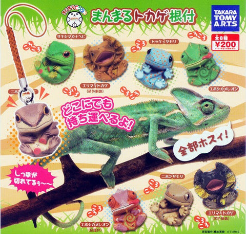 Takara Tomy Cute Animal Gashapon Lizard 8 Mascot Strap Trading Collection Figure Set - Lavits Figure