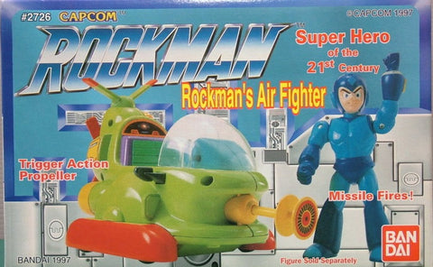 Bandai 1997 Capcom Rockman Air Fighter Trigger Action Propeller Figure Set - Lavits Figure  - 1