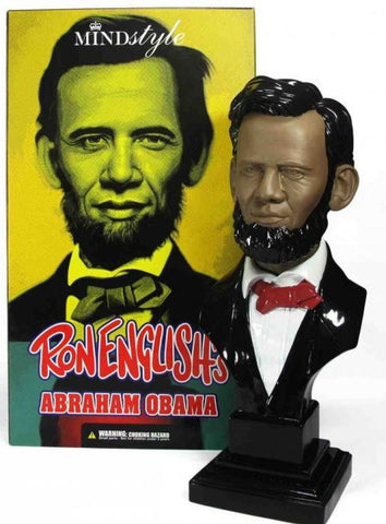 "MINDstyle 2009 Ron English Abraham Obama Black Ver 16"" Vinyl Figure - Lavits Figure"