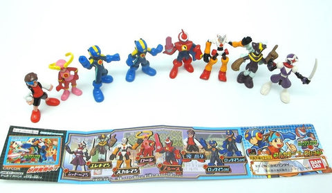 Bandai 2001 Megaman Rockman EXE Gashapon Full Color 8 Collection Figure Set - Lavits Figure