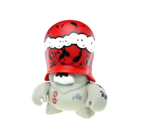 "adFunture 2007 The London Police Teddy Troops Lads Trooper Red Ver 10"" Vinyl Figure - Lavits Figure"