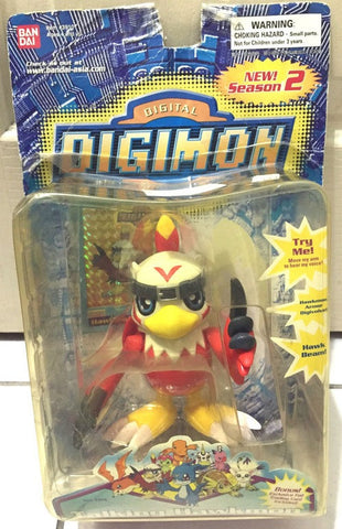 "Bandai Digimon Digital Monster Talking Hawkmon 4"" Action Figure - Lavits Figure"