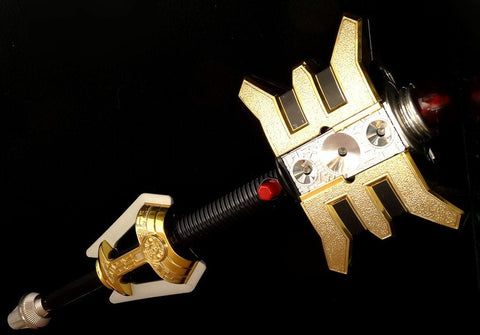 Bandai Power Rangers Zeo Ohranger Golden Power Staff Stick Play Set Used - Lavits Figure