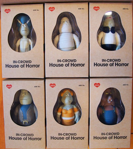 "Amos Toys 2003 James Jarvis In-Crowd House Of Horror 6 4"" Vinyl Figure Set - Lavits Figure  - 1"