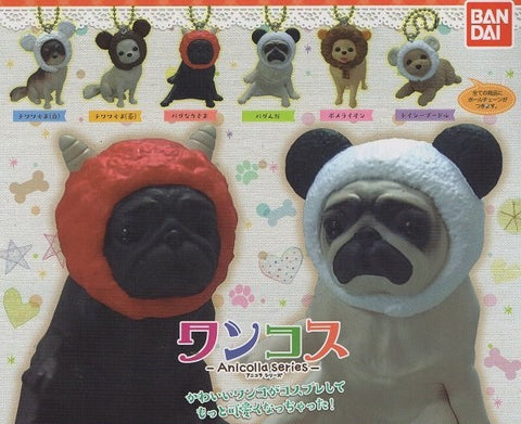 Bandai Anicolla Series Gashapon Wancos Dog's Mascot Strap 5 Collection Figure set - Lavits Figure
