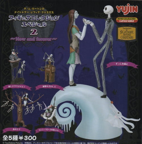 Yujin Disney Capsule World Tim Burton The Nightmare Before Christmas Gashapon Part 2 Now And Forever 5 Collection Figure Set - Lavits Figure