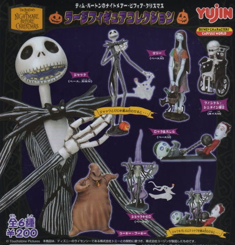 Yujin Disney Capsule World Tim Burton The Nightmare Before Christmas Gashapon 6 Collection Figure Set - Lavits Figure