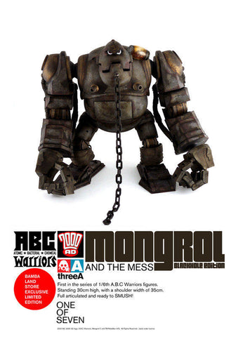ThreeA 3A Toys 2011 Ashley Wood 2000AD Mongrol Blackhole Edition ABC Warriors Vinyl Figure