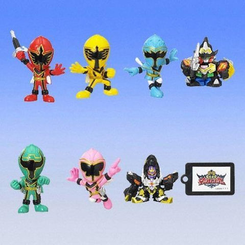 Bandai 2005 Power Rangers Mystic Force Magiranger Gashapon 7 Swing Strap Figure Set