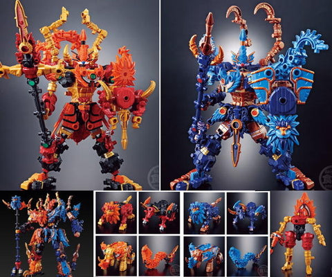 Bandai Machine Robo Mugenbine Candy Toy Series 8&9 Mugen Fighting God Beasts 12 Trading Figure Set
