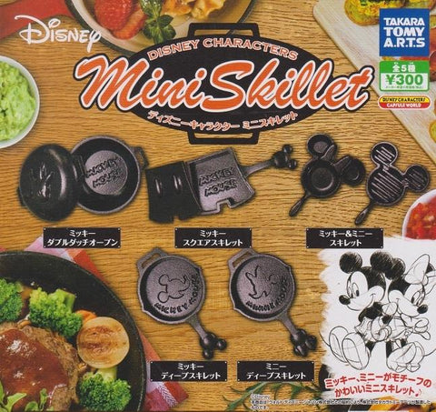 Takara Tomy Disney Characters Mini Skillet 5 Collection Figure Set
