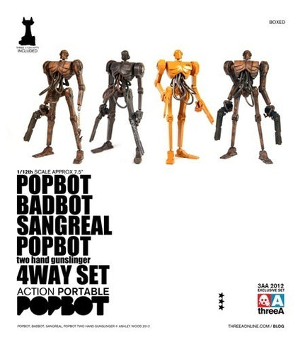 ThreeA 3A Toys 1/12 Ashley Wood PopBot Badbot Sangreal 4 Way Figure Set