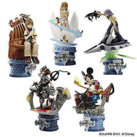 Square Enix Disney Kingdom Hearts II 2 Formation Arts Chess Vol 1 5 Trading Figure Set