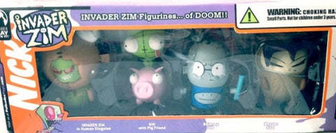 Palisades Hot Topic Nickelodeon Invader Zim Series 1 5 Figure Set