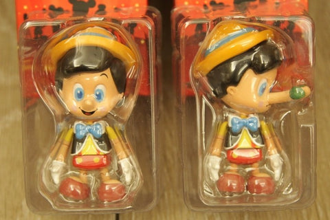 Hot Toys Cosbaby Disney Friends Pinocchio Normal + Secret 2 Mini Action Figure Set Used
