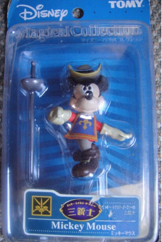 Tomy Disney Magical Collection 110 The Three Musketeers Mickey Mouse Trading Figure