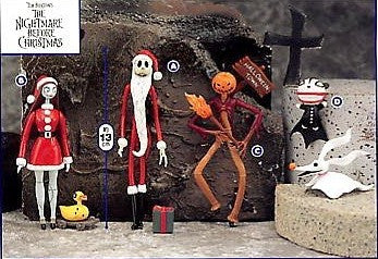 "Sega Disney The Nightmare Before Christmas 4 5"" Trading Figure Set - Lavits Figure  - 1"