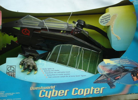 1996 Jonny Quest Questworld Cyber Copter Action Figure - Lavits Figure  - 1