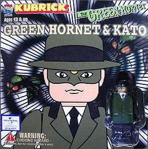 Medicom Toy Kubrick 100% The Green Hornet & Kato 2 Figure Set - Lavits Figure  - 1