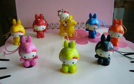 Lipton Limited Hello Kitty x Rody Part 1 8 Mascot Strap Figure Set - Lavits Figure  - 1