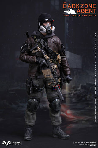 "Virtual Toys 12"" 1/6 The Darkzone Agent Action Figure"
