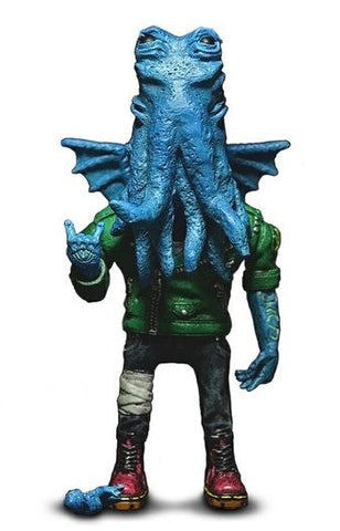 "2013 Mighty Jaxx Daniel Yu Oi! Cthulhu Mintyfresh Exclusive Blue Ver 6"" Resin Figure - Lavits Figure  - 1"