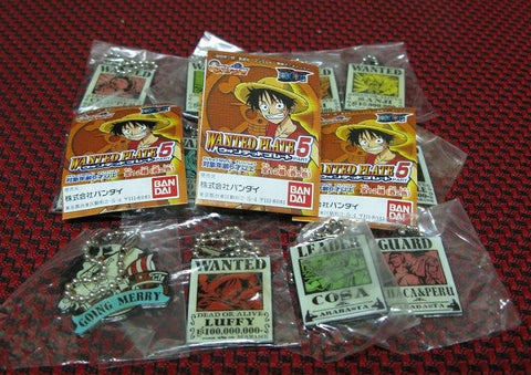 Bandai 2002 One Piece From TV Animation Gashapon Wanted Plate Part 5 12 Trading Figure Set - Lavits Figure  - 1