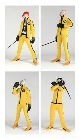 "ThreeA 3A Toys 2013 Ashley Wood Tomorrow King PopBot Yellow Hornets Ver 12"" Vinyl Figure Set - Lavits Figure  - 1"