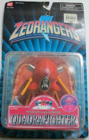 "Bandai 1996 Power Rangers Zeo Ohranger Missle Launching Quadrafighter 5"" Trading Action Figure - Lavits Figure"