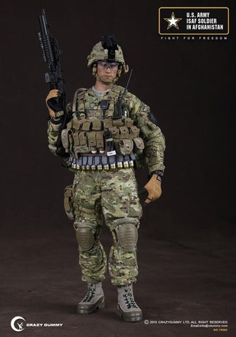 "Crazy Dummy 1/6 12"" 78005 Fight For Freedom U.S. Army ISAF Soldier In Afghanistan Action Figure - Lavits Figure  - 1"
