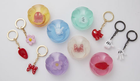 Disney 7-11 Taiwan Limited 2020 Mouse Year Key Chain Holder Soap 6 Trading Figure Set