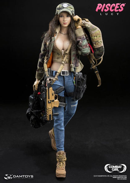 "DamToys 1/6 12"" Combat Girl Series Pisces Pisses Lucy Action Figure"