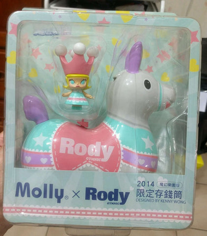 "Kenny's Work 2014 Kenny Wong Molly x Rody Taiwan Family Mart Limited Magic Paradise White Ver 7"" Coin Bank Figure - Lavits Figure"