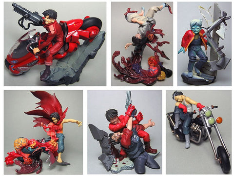 Kaiyodo x Movic Gashapon Akira 3 6 Figure Set Type A Used - Lavits Figure  - 1