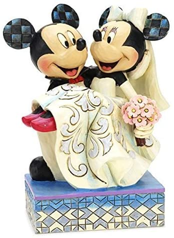 Enesco Jim Shore Disney Traditions Mickey Mouse Minnie Mouse Wedding Congratulations Collection Figure