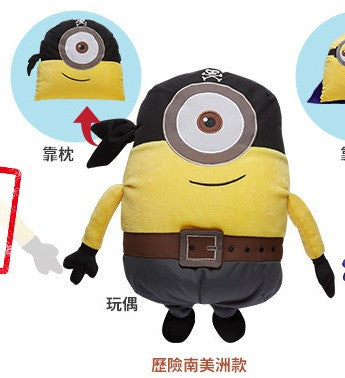 "Minions 7-11 Limited 12"" Changeable Pillow Plush Doll Figure Pirate Ver - Lavits Figure"