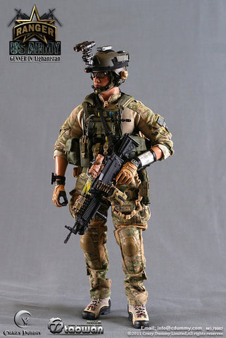 "Crazy Dummy 1/6 12"" 78002 Ranger US Army Gunner In Afghanistan Action Figure"