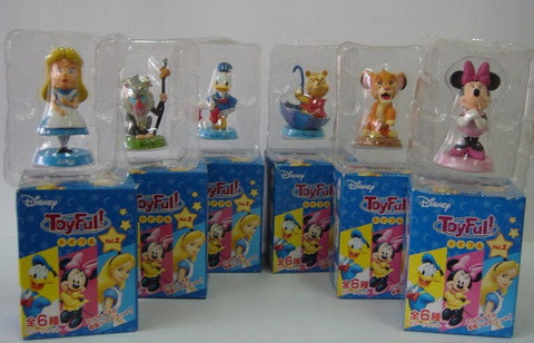 Disney Toyfull Vol 2 Mini Bobble Head 6 Trading Collection Figure Set - Lavits Figure