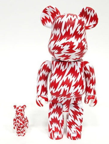 "Medicom Toy 2008 Be@rbrick 400% Eley Kishimoto White & Red Ver 11"" Vinyl Collection Figure - Lavits Figure"
