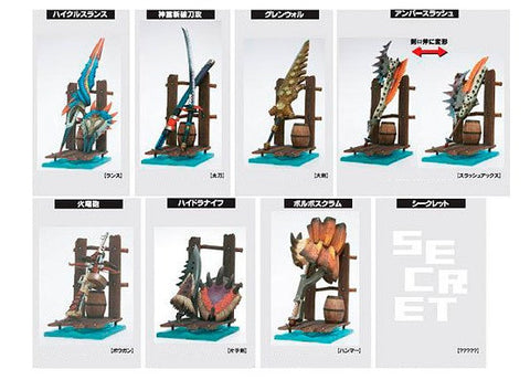 Capcom Monster Hunter Hunting Weapon Collection Vol 2 7+1 Secret 8 Trading Figure Set - Lavits Figure  - 1
