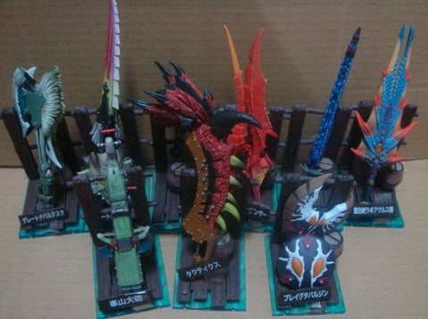 Capcom Monster Hunter Hunting Weapon Collection Vol 3 8+1 Secret 9 Trading Figure Set Used - Lavits Figure  - 2