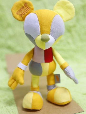 "Touma Toumart Disney Mickey Mouse Elements Of Colors Of Pooh 8"" Plush Doll Figure - Lavits Figure  - 1"